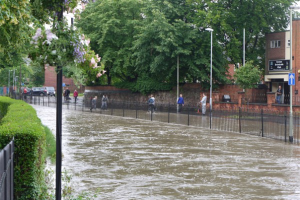 Brook Street Syston flooded, 6 July 2012